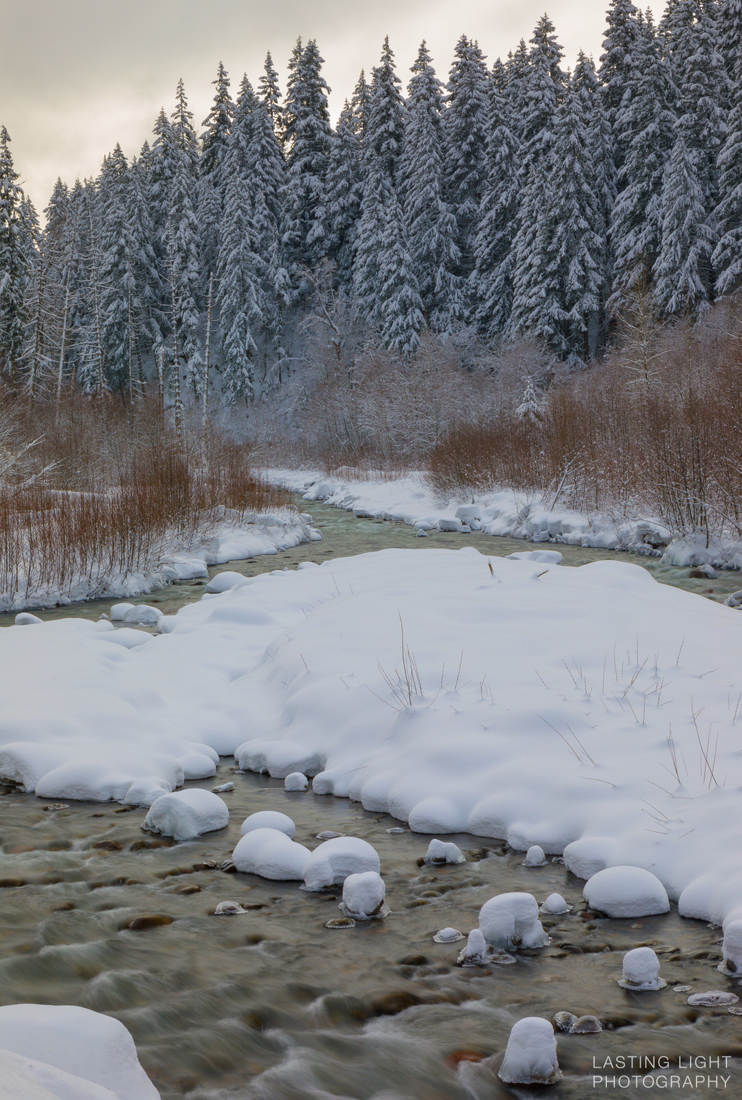 East fork of the Hood River in winter