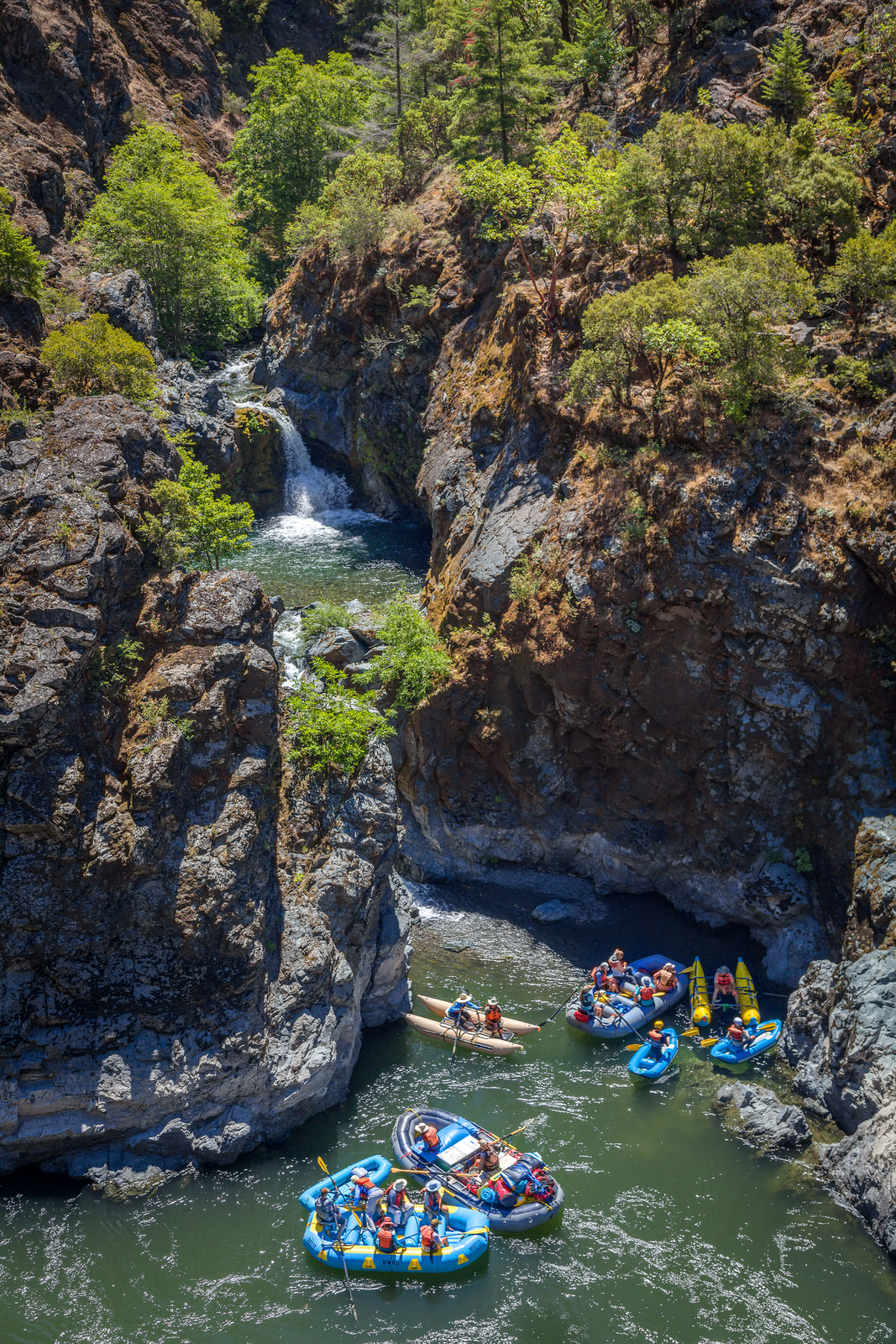 Rafters at Stair Creek Falls on the Rogue River