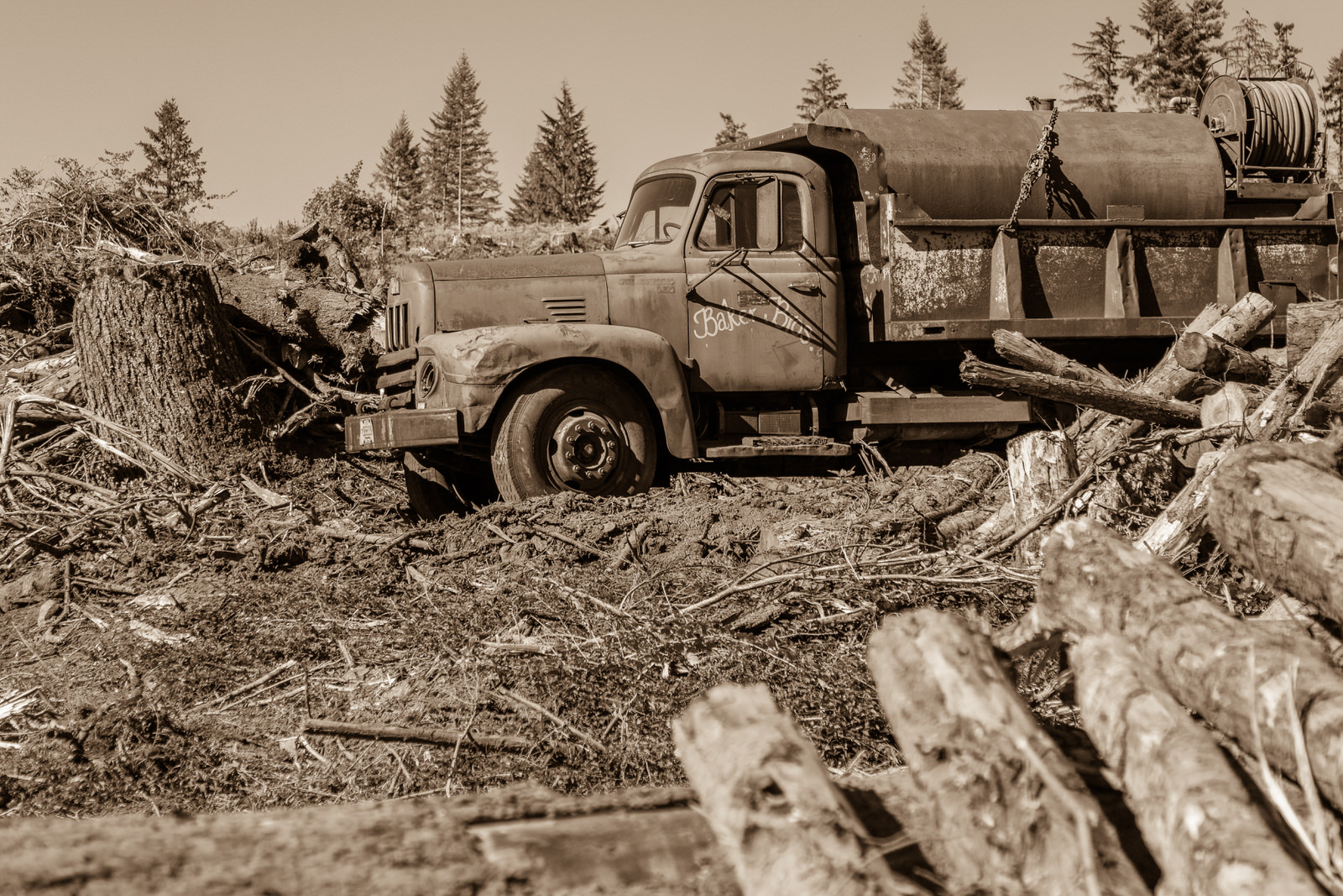 Baker Brothers truck near Corbett, Oregon