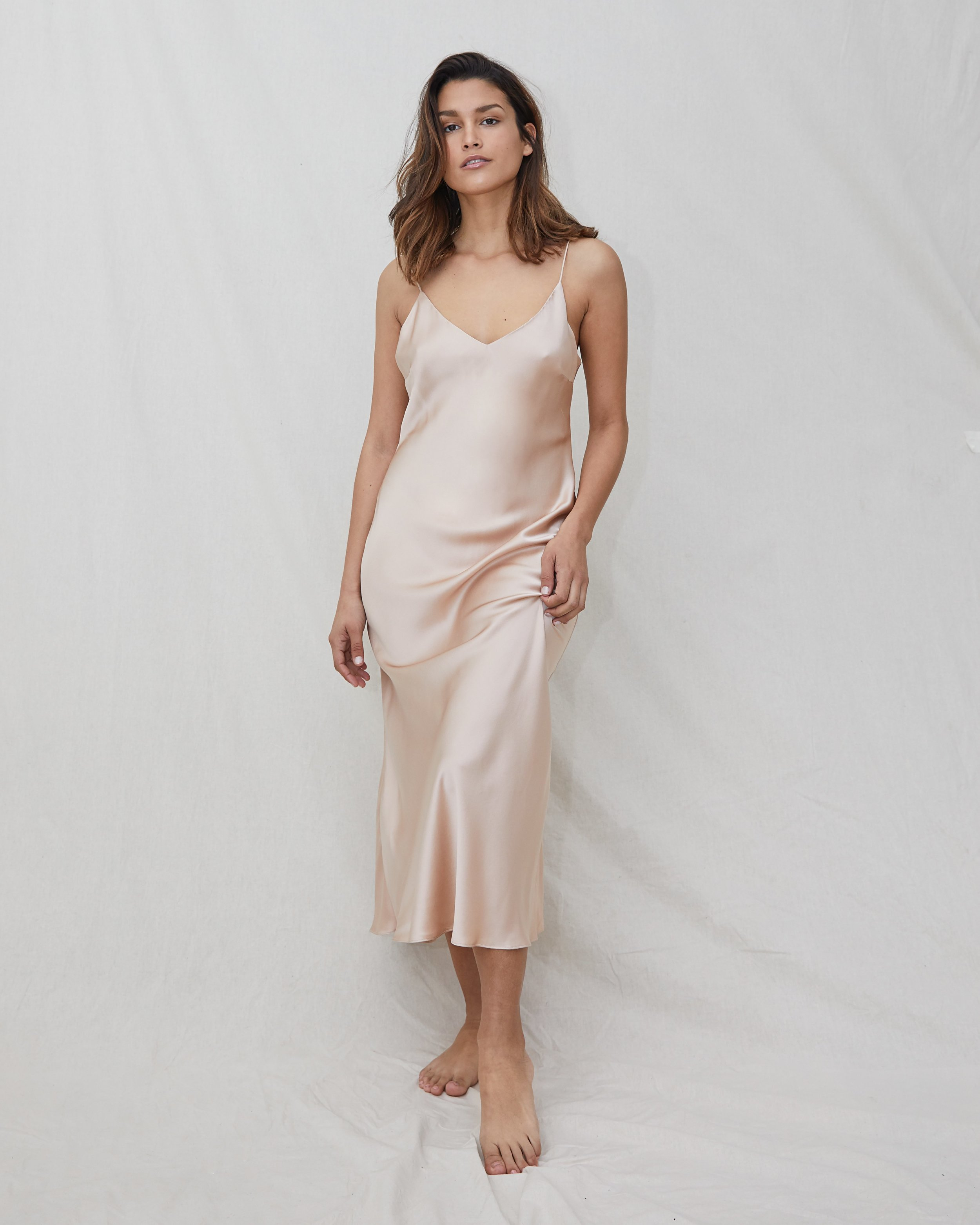 NATALIJA silk slip dress - Rose