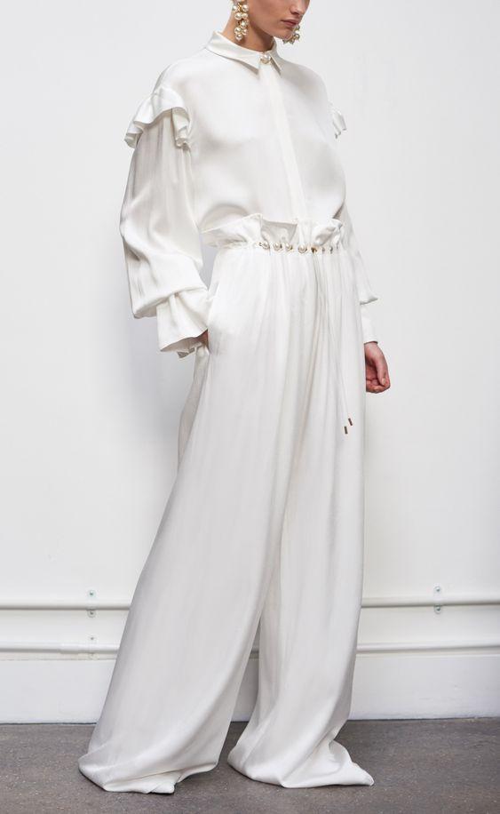 Elsie Ivory shirt & Earle Ivory Trouser