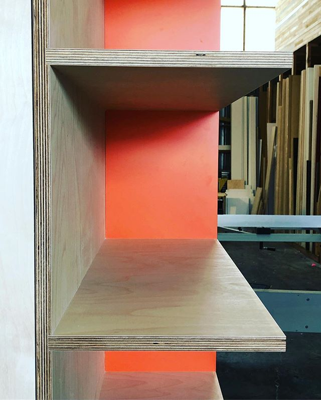 Having fun with orange laminates in our latest kitchen, Pairing this with blue what you would pick for some colour pop in your kitchen!?
