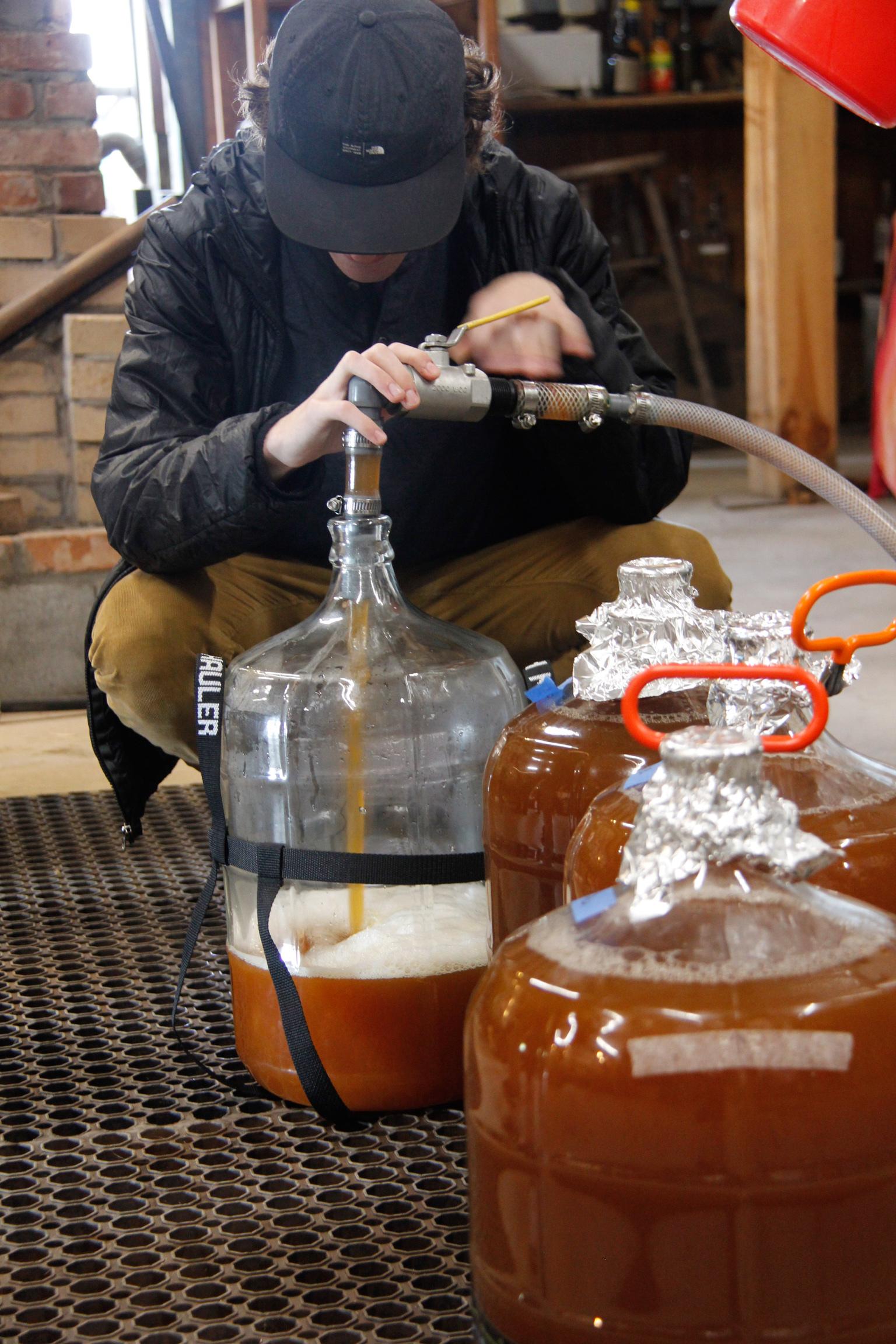 Filling Carboys on Hard Cider Weekend!