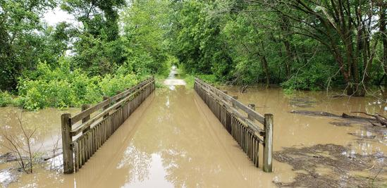 Katy Trail Flooding at Good Woman Creek (MO State Parks)