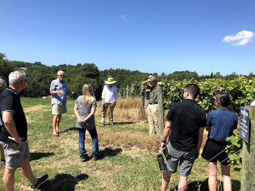 T    his past July scientists and thought leaders braved the heat to meet Dan and Connie Burkhardt at their farm, Bethlehem Valley. It turned out to be the perfect day to brainstorm possibilities for the future of the program while highlighting the last 100 miles of the Missouri River.