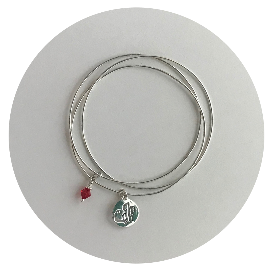 Initial and Gemstone Bangles