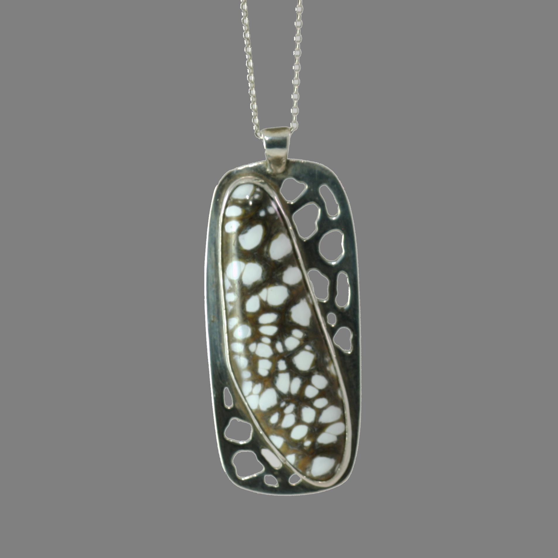 Cutout Pendant with Art Glass