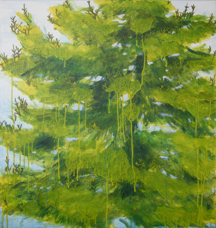 "The Tree Out There, 2011, acrylic on canvas, 30"" x 28"""