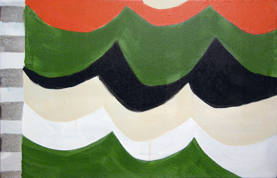 "Wave, 2011, acrylic on canvas, 14"" x 22"""