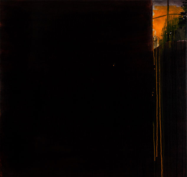 "Street Light, 2009, acrylic on canvas, 42"" x 48"""