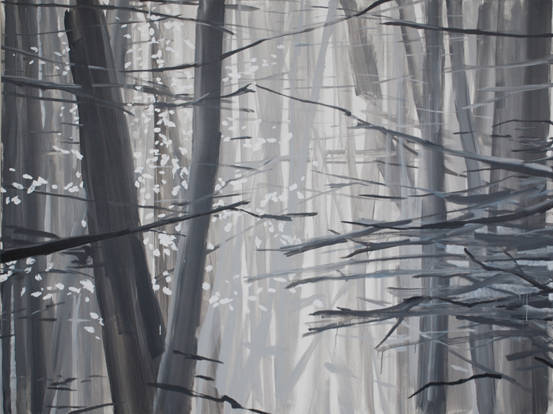 "Forest for the Trees, 2008, acrylic on canvas, 54"" x 72"""