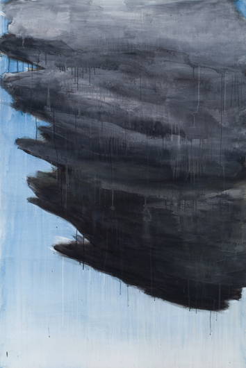 "Front, 2007, acrylic on canvas, 72"" x 48"""