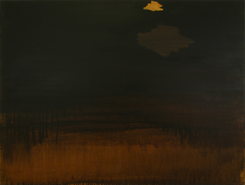 "Night Cloud, 2006, acrylic on canvas, 36"" x 48"""