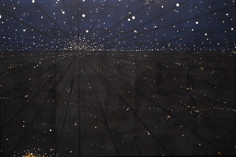 "Reflection, 2004, oil on canvas, 54"" x 72"""
