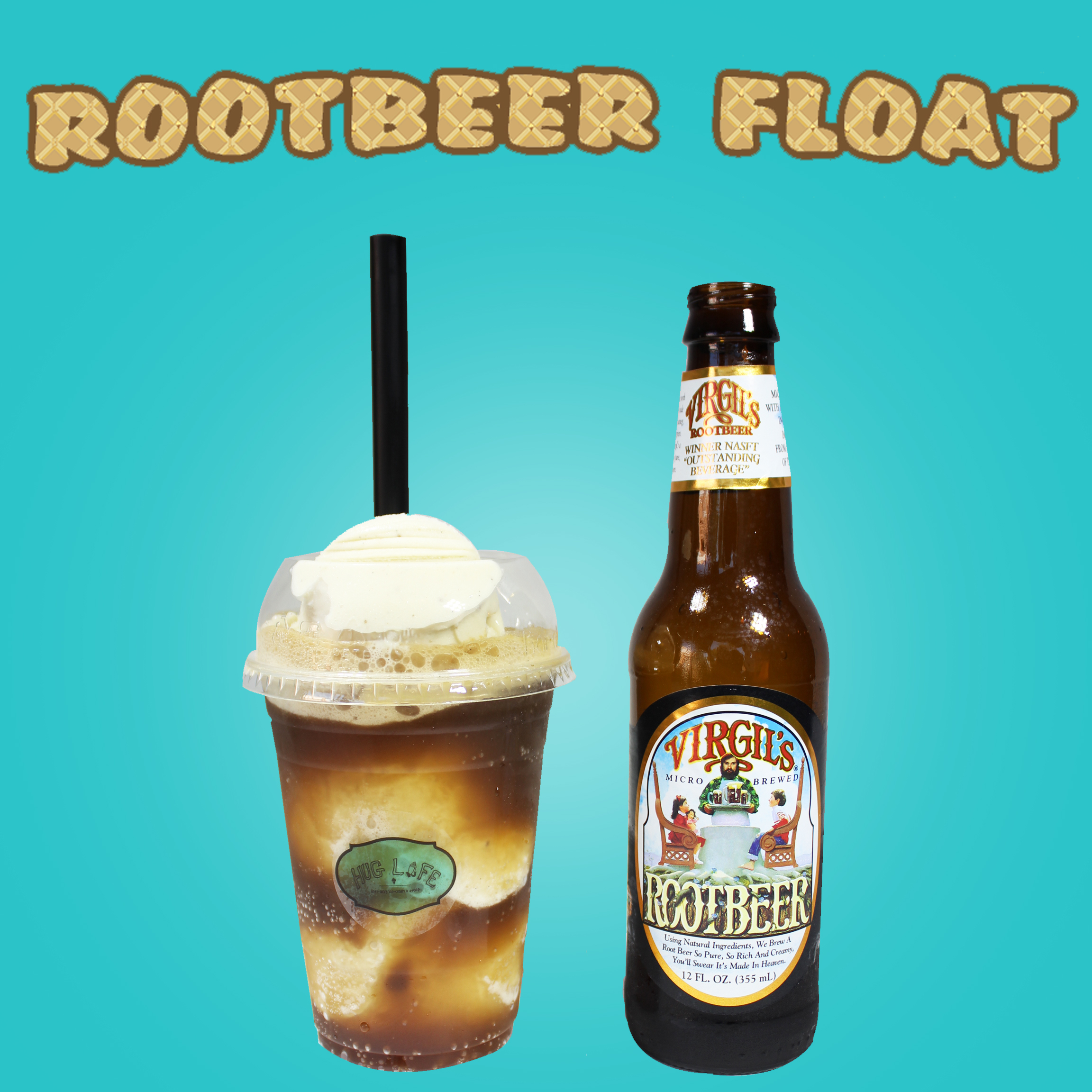 Pair your choice of ice cream with Virgil's Natural Root Beer