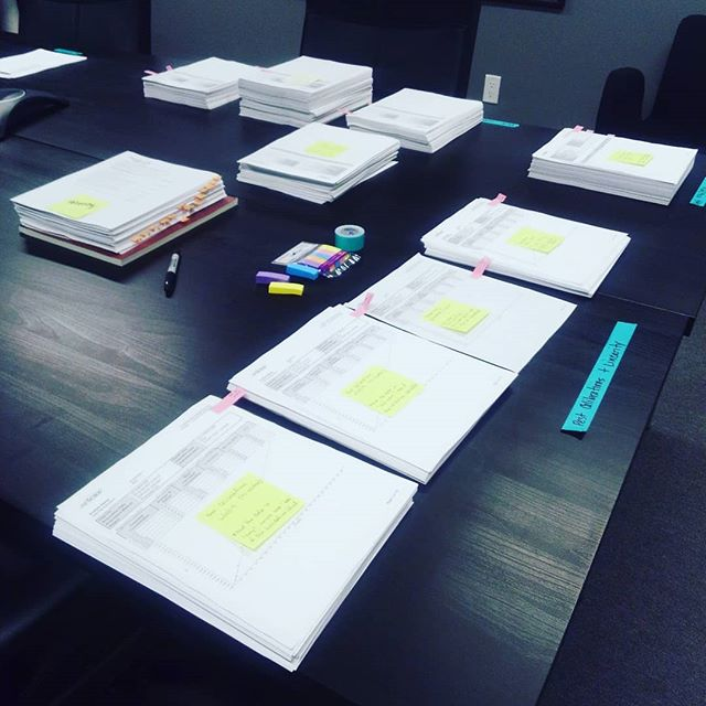 More than just meetings for our conference table... The big table is perfect size to organize the many stacks of documentation necessary for a robust pesticides validation data package📄✔️👩‍🔬