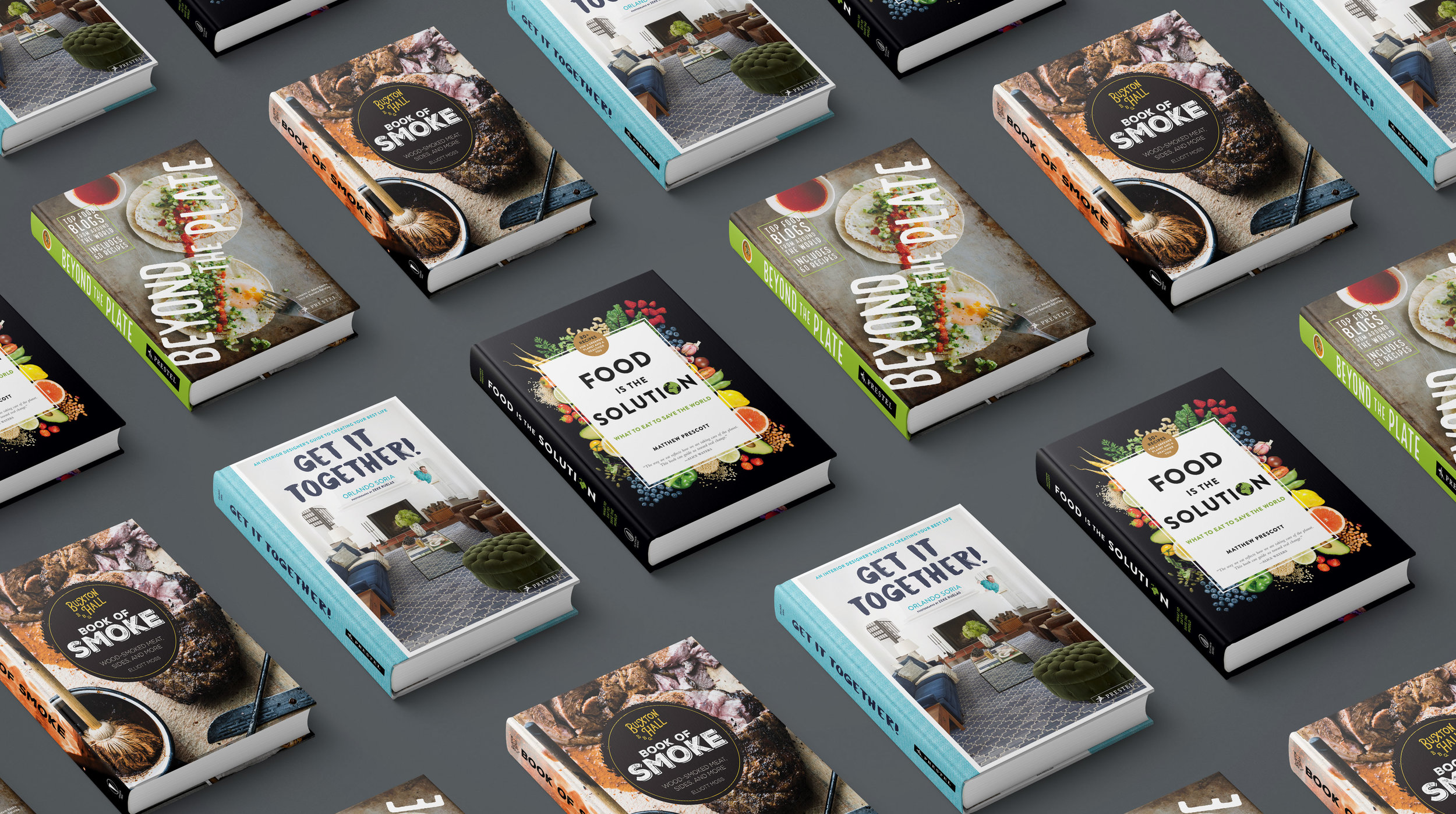 Some books I designed for Prestel, Flatiron Books, and Quarto Publishing Group