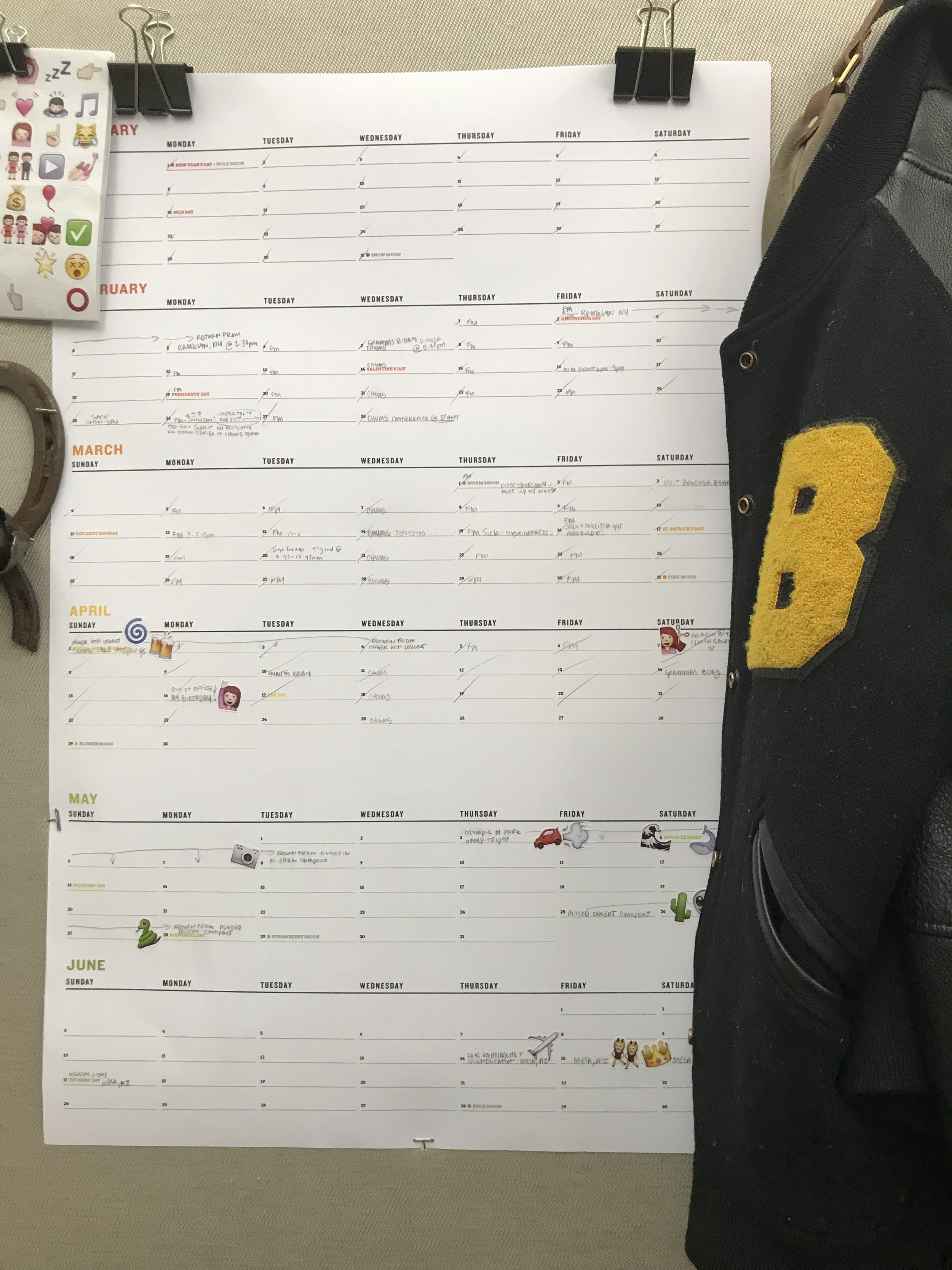 This is how my friend  Becky Donaghy  uses her custom calendar.