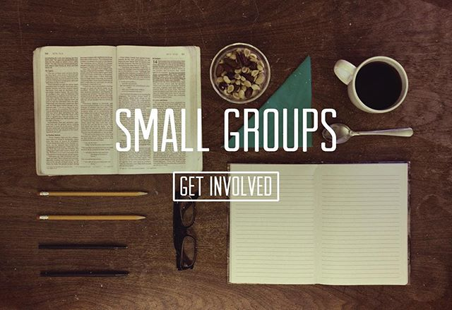 Small Groups tonight at 5!