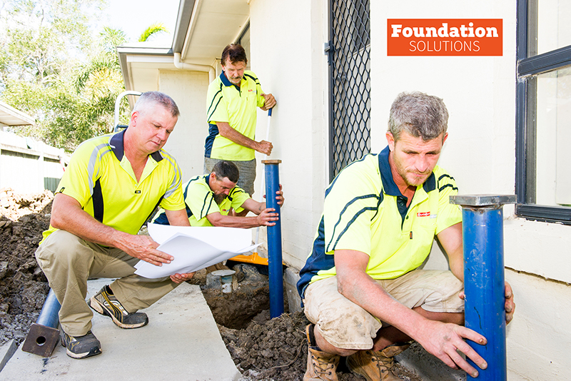 The Foundation Solutions team underpinning a house in Brisbane.