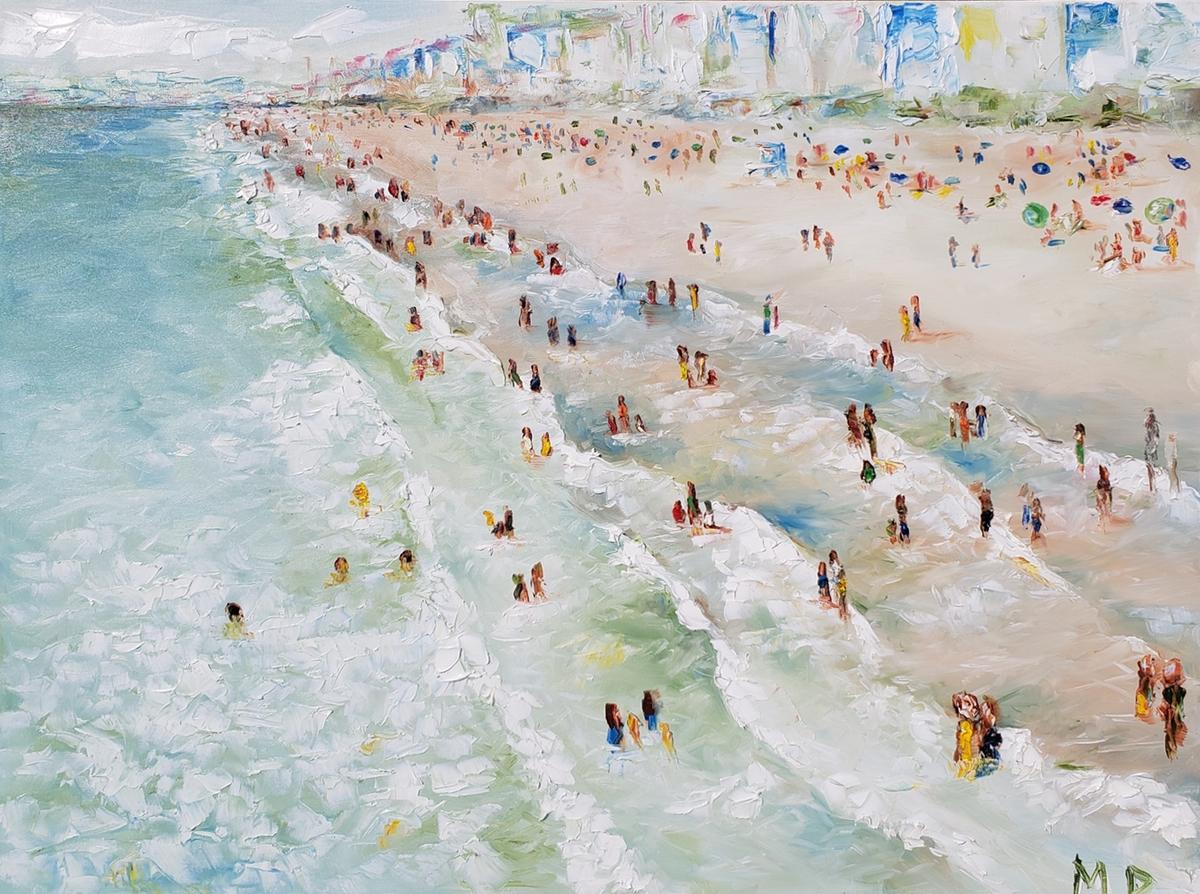 Crowds in Manhattan 3 | 40x30 | Oil on canvas | $1,000.00 | SOLD