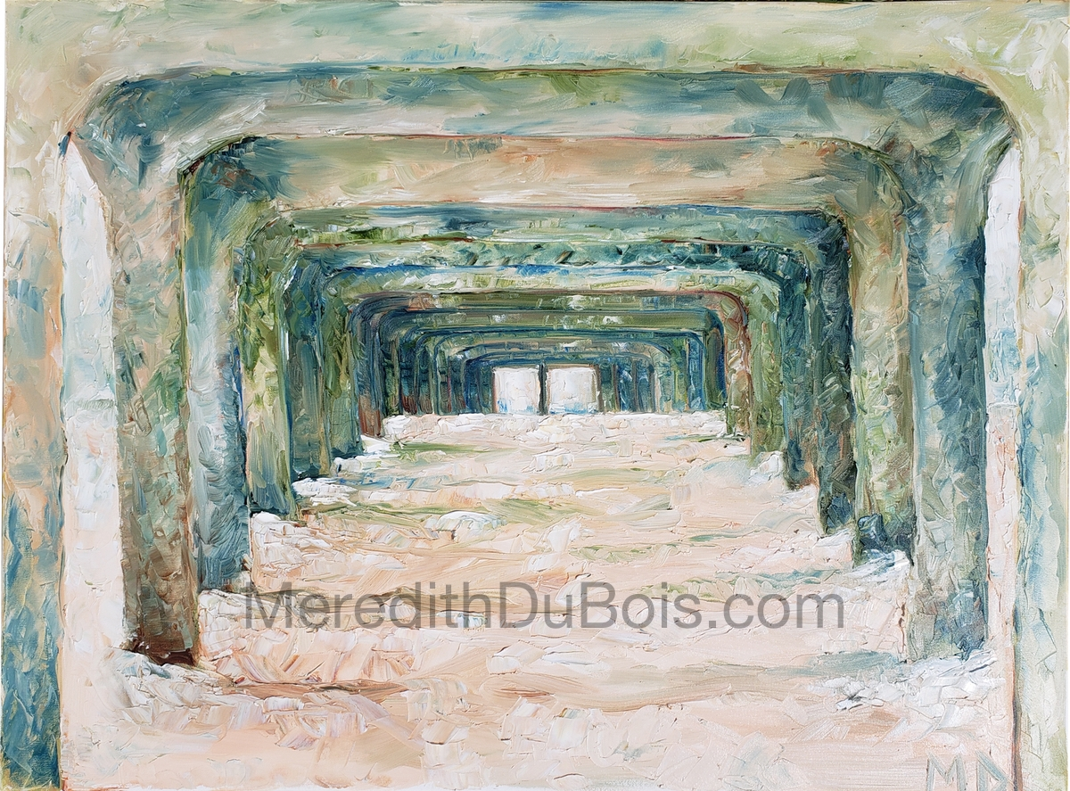 Under The Pier | 40x30 | Oil on canvas | $1,000.00 | SOLD