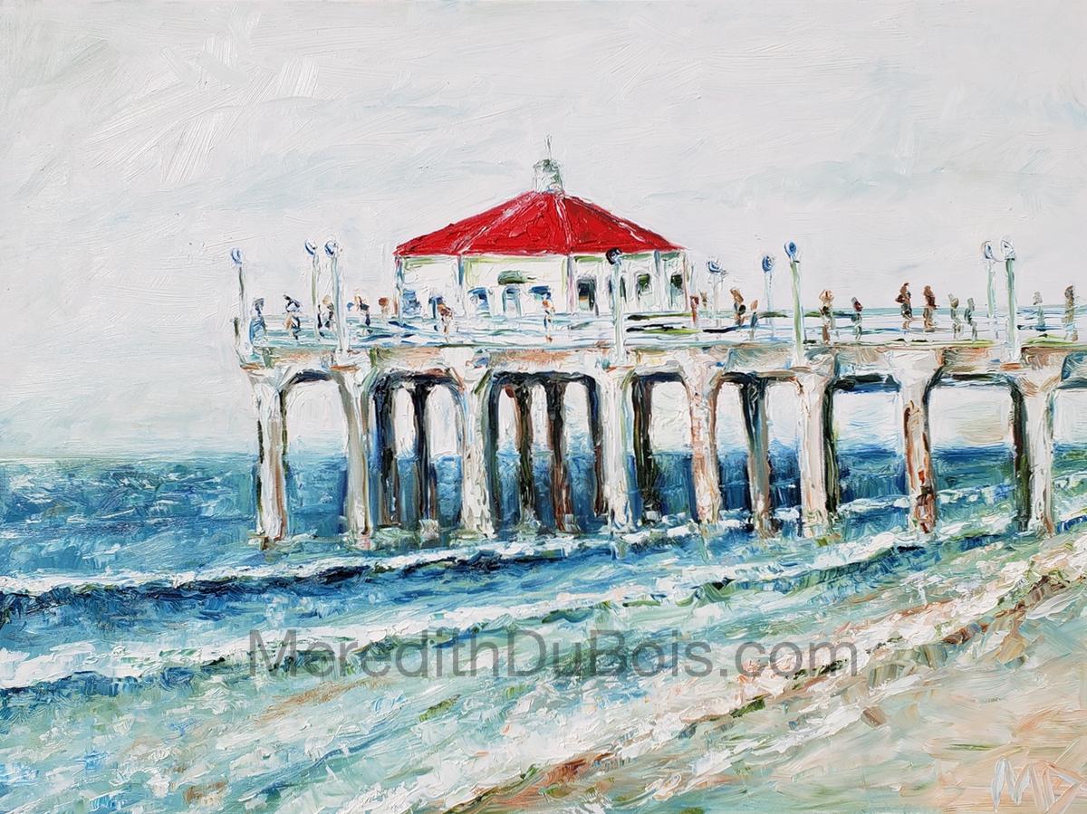 Summer Manhattan Beach Pier | 40x30 | Oil on Canvas | $800.00 | SOLD