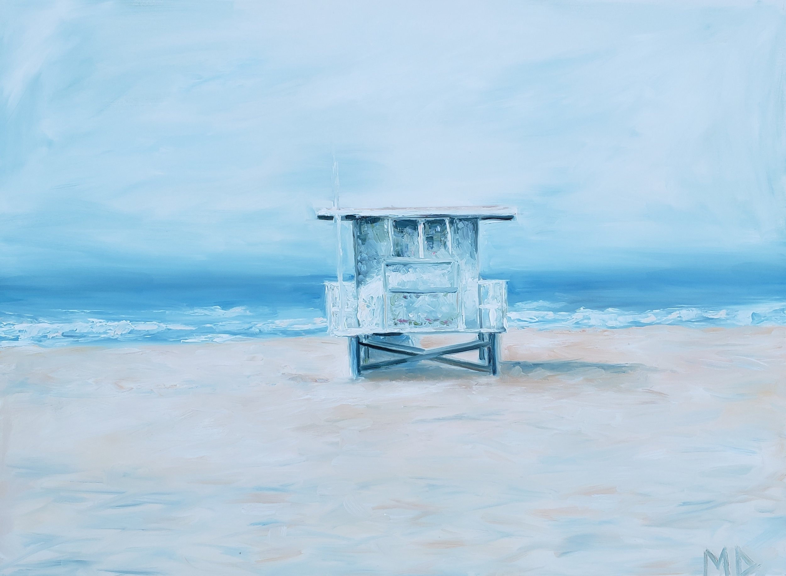Lonely Lifeguard | 40x30 | Oil on canvas | $1,200.00 | SOLD