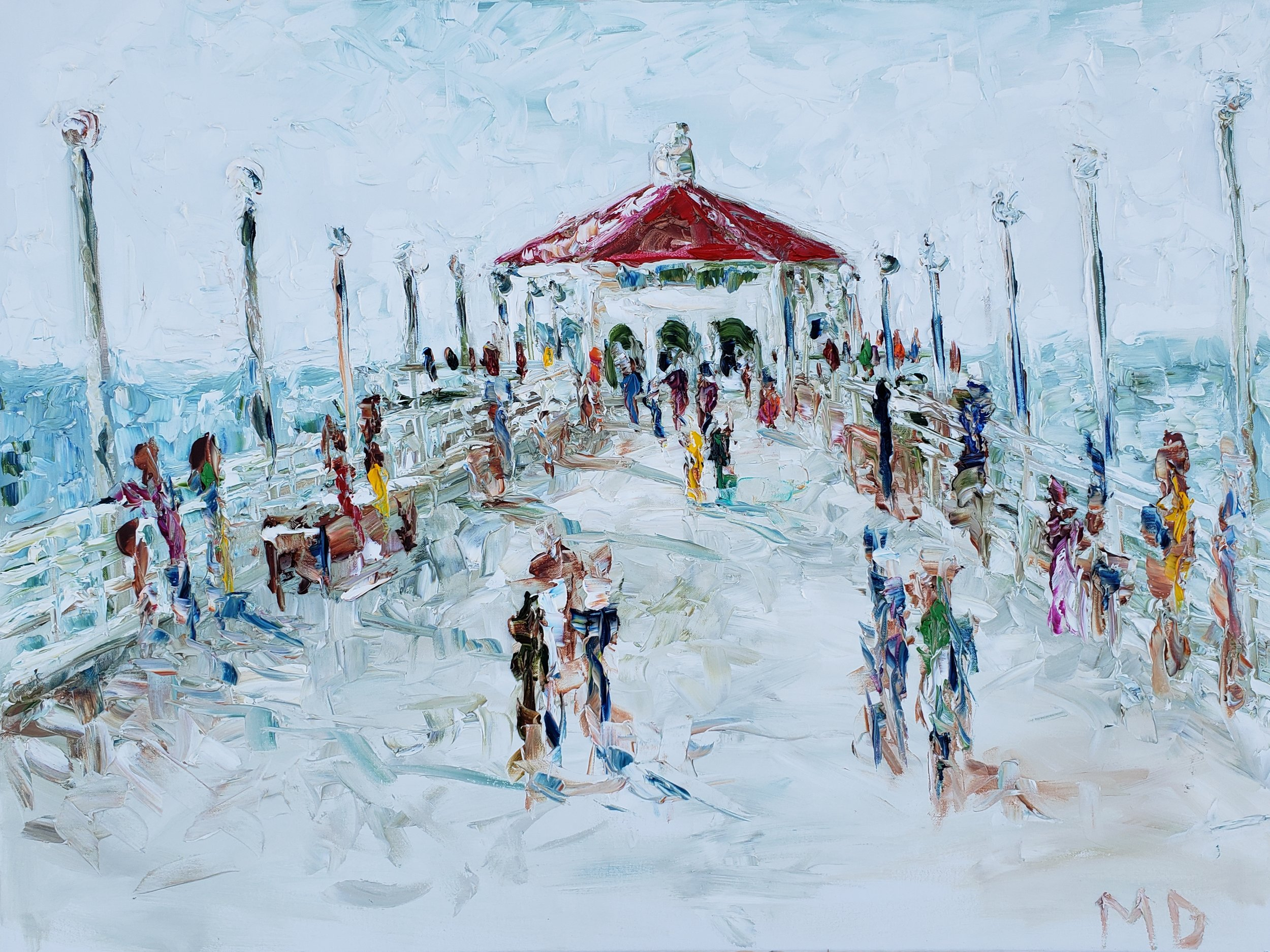 Hometown Pier | 40x30 | Oil on canvas | $1,200.00 | SOLD