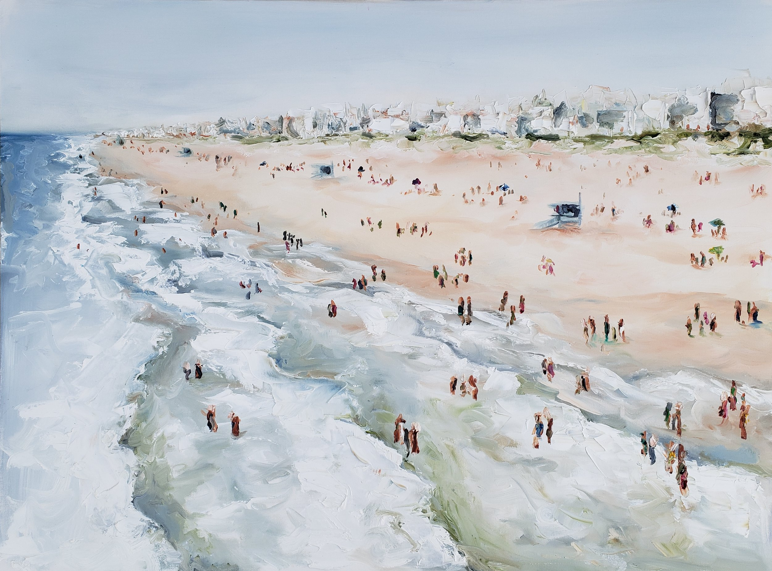 Crowds in Manhattan 5 | 40x30 | Oil on canvas | $1,500 | SOLD