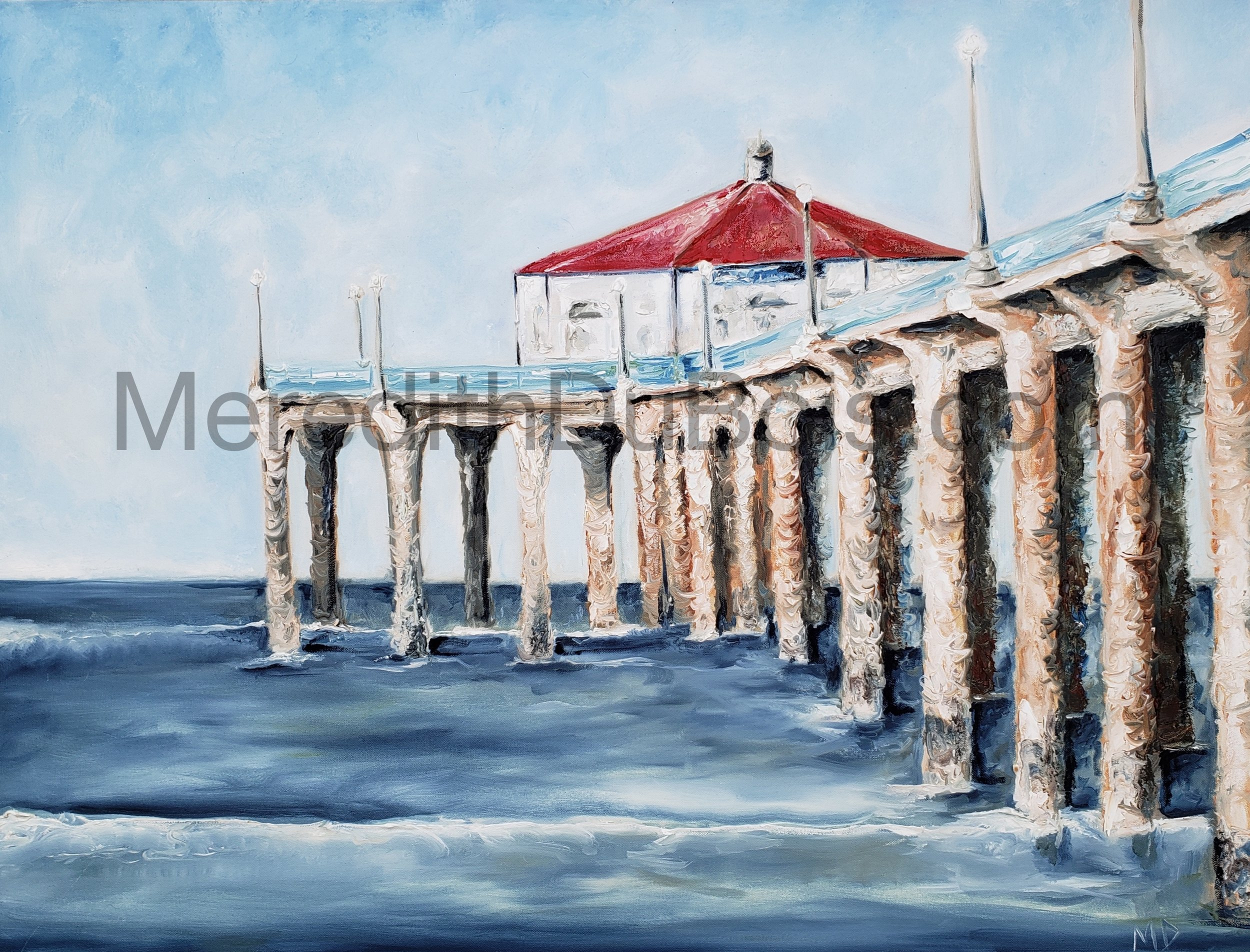 Summer Pier 2 | 40x30 | Oil on canvas | $1,500 |  Inquire Here