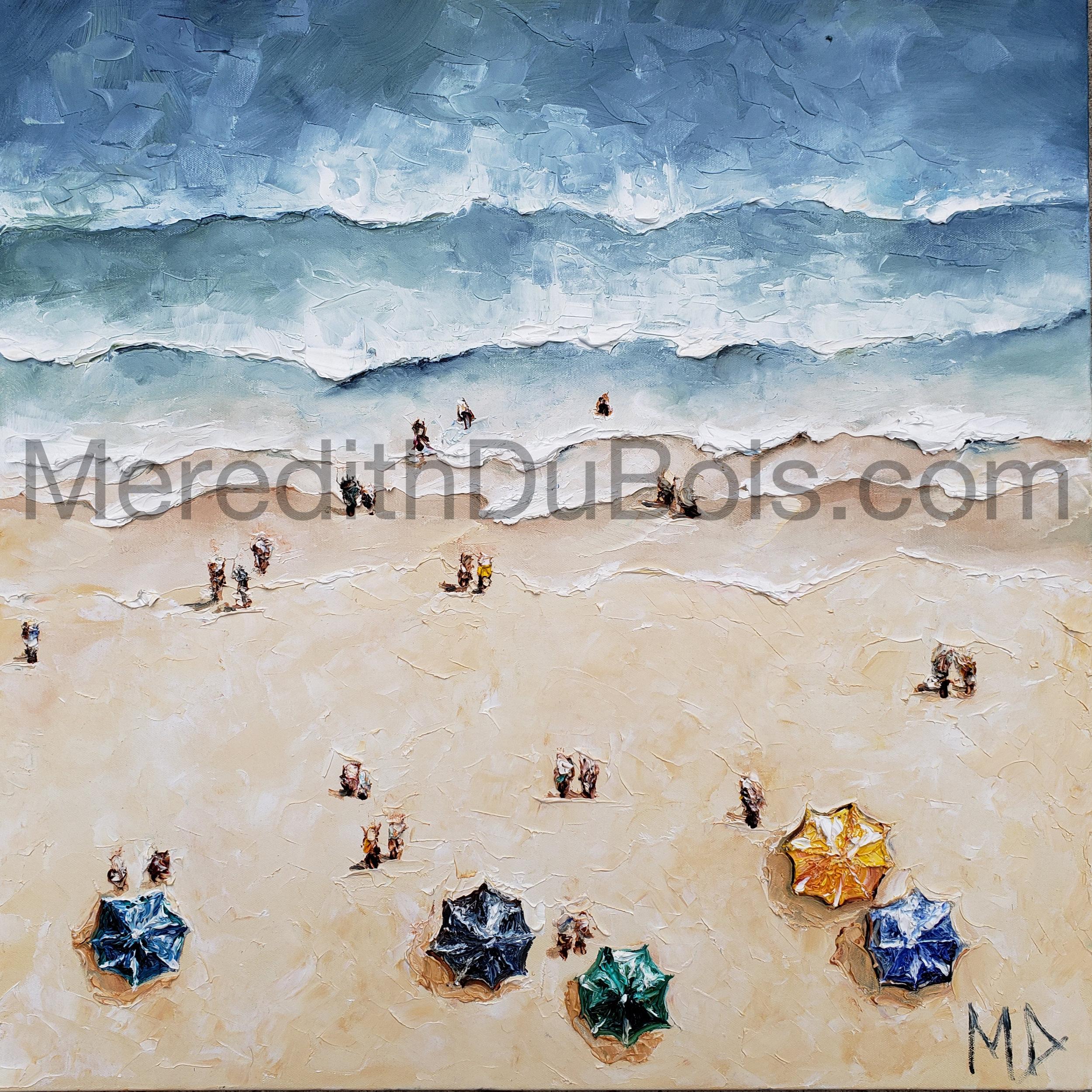 Beach Umbrella's | 24x24 | Oil on canvas | $500 | Sold