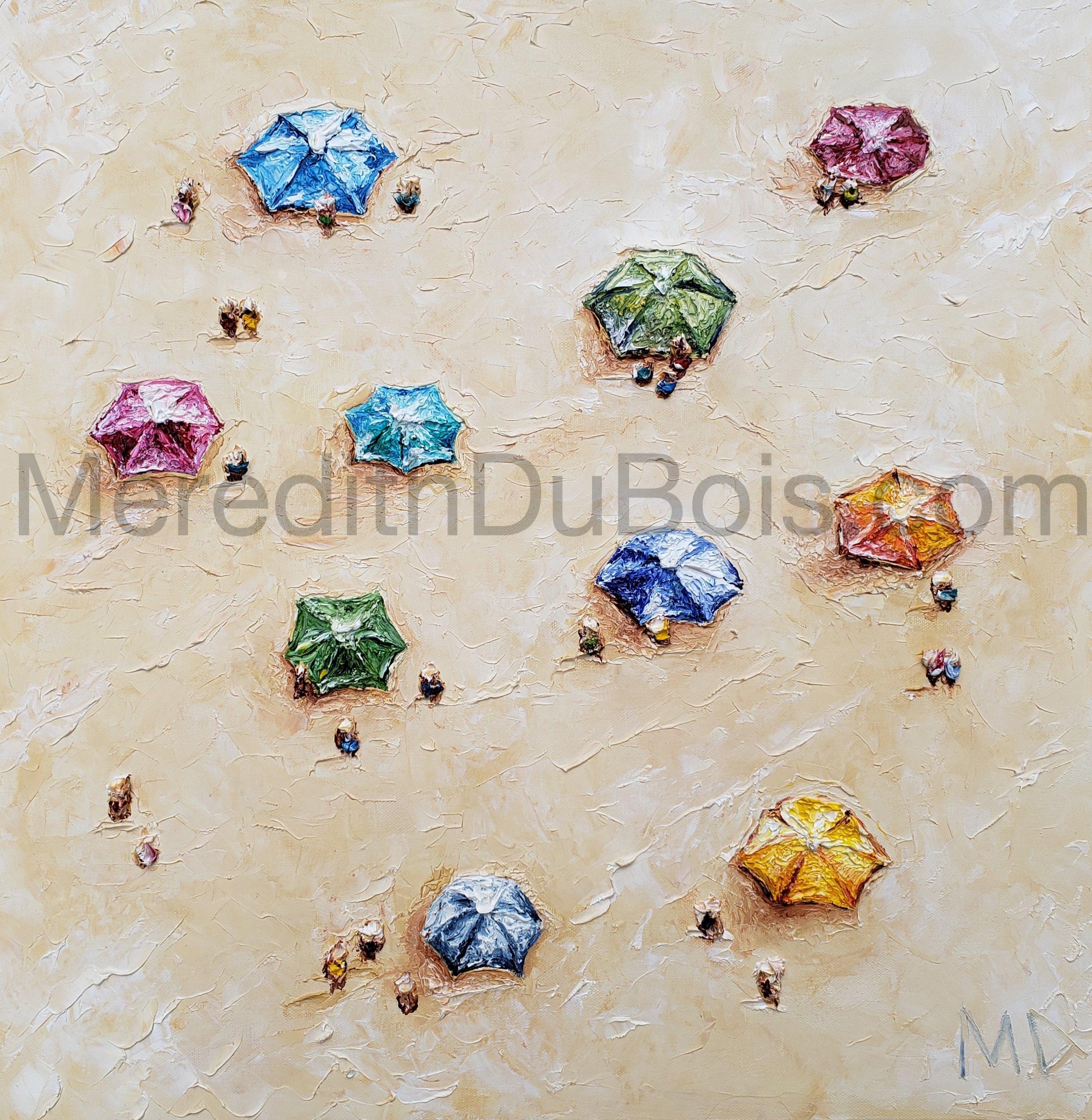 Umbrella Tops | 24x24 | Oil on canvas | $500 | Sold