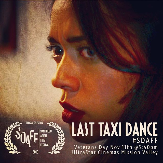 Coast-to-coast screenings back-to-back on Veterans Day weekend! The day after our east coast premiere, #lasttaxidance journeys across the continent to join our fellow @picpacific and @ohinashowcase shorts at the 20th annual @pacartsmovement San Diego Asian Film Festival! #sdaff2019