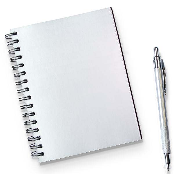 JOURNAL:  Jot down your brainstorms and breakthroughs in one central place to help you piece together the puzzle and get a little scum of the streets