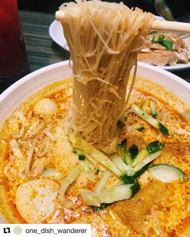 A Re-post of our delicious Singaporean Laksa by @one_dish_wanderer