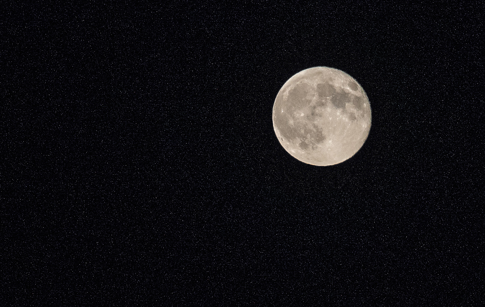 Full moon from the front porch