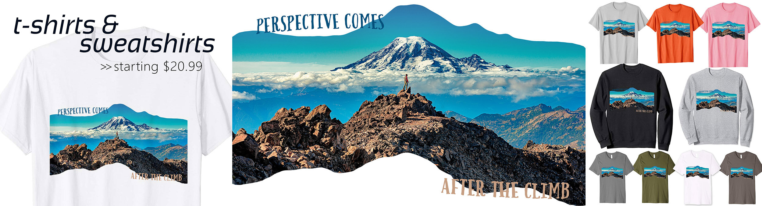 """""""Perspective Comes After the Climb"""" on Amazon.com"""