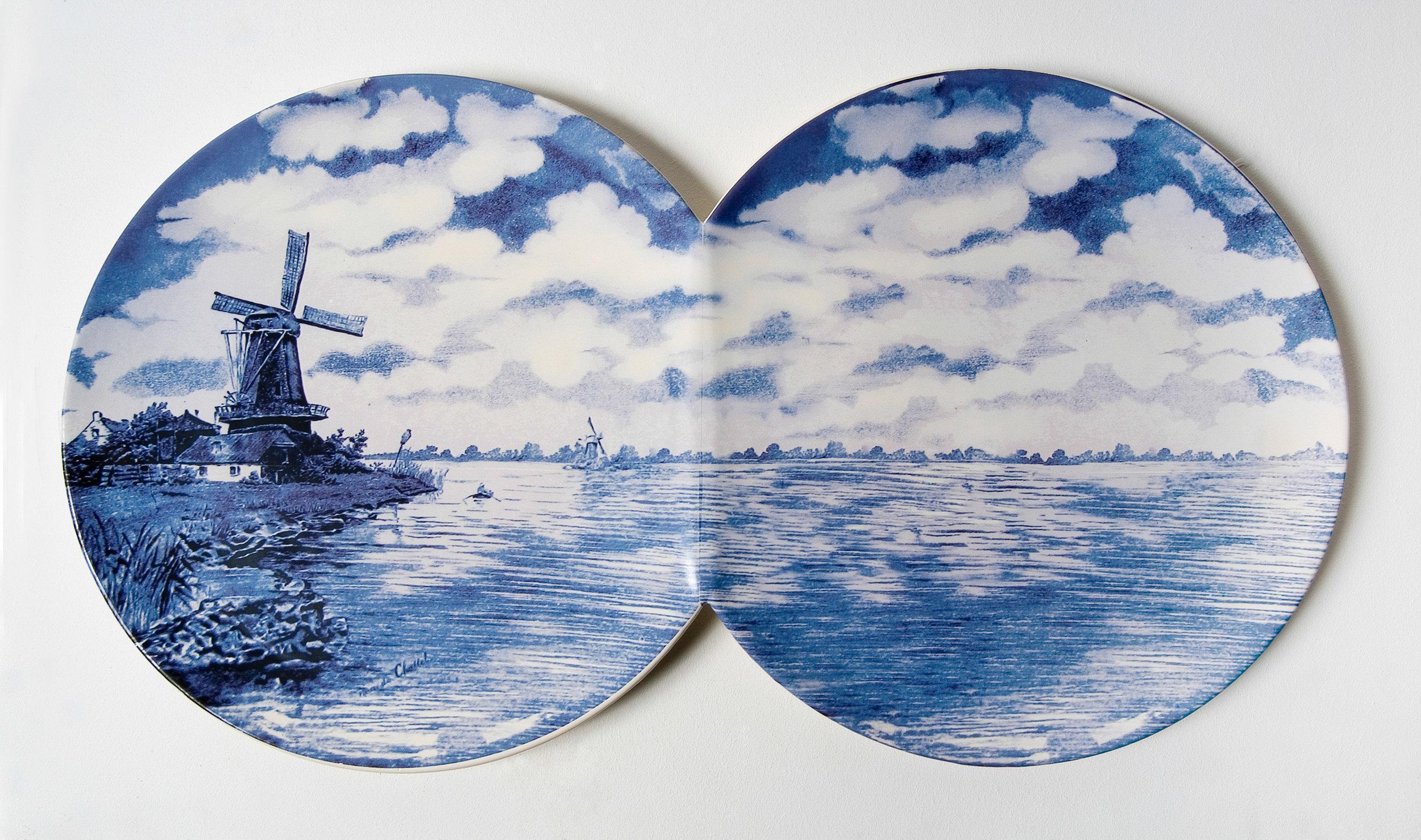 Dutch Landscape. 75cm x 41cm.