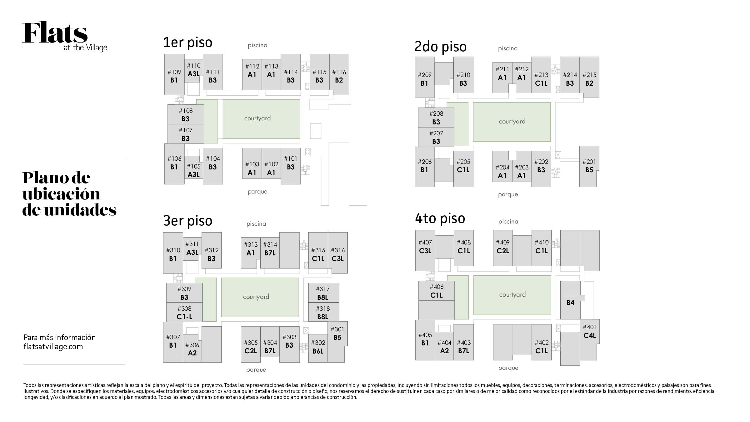 Plano de ubicación de unidades.  Dar click para ampliar.