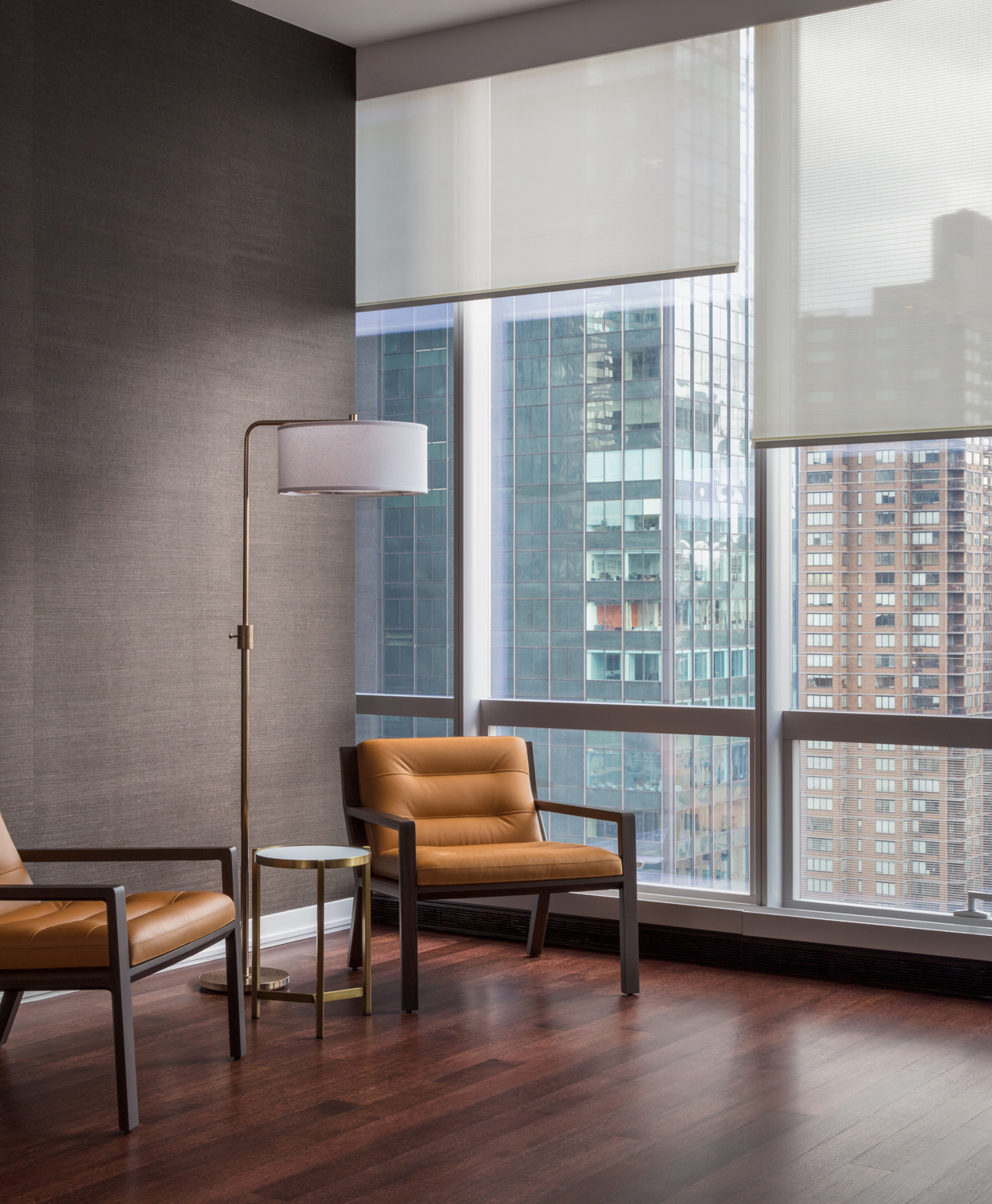 Convenience and Service all in one place - Our window treatment services are full spectrum, starting from conception to installation. Your manual or motorized systems can be fulfilled.Learn more ➝