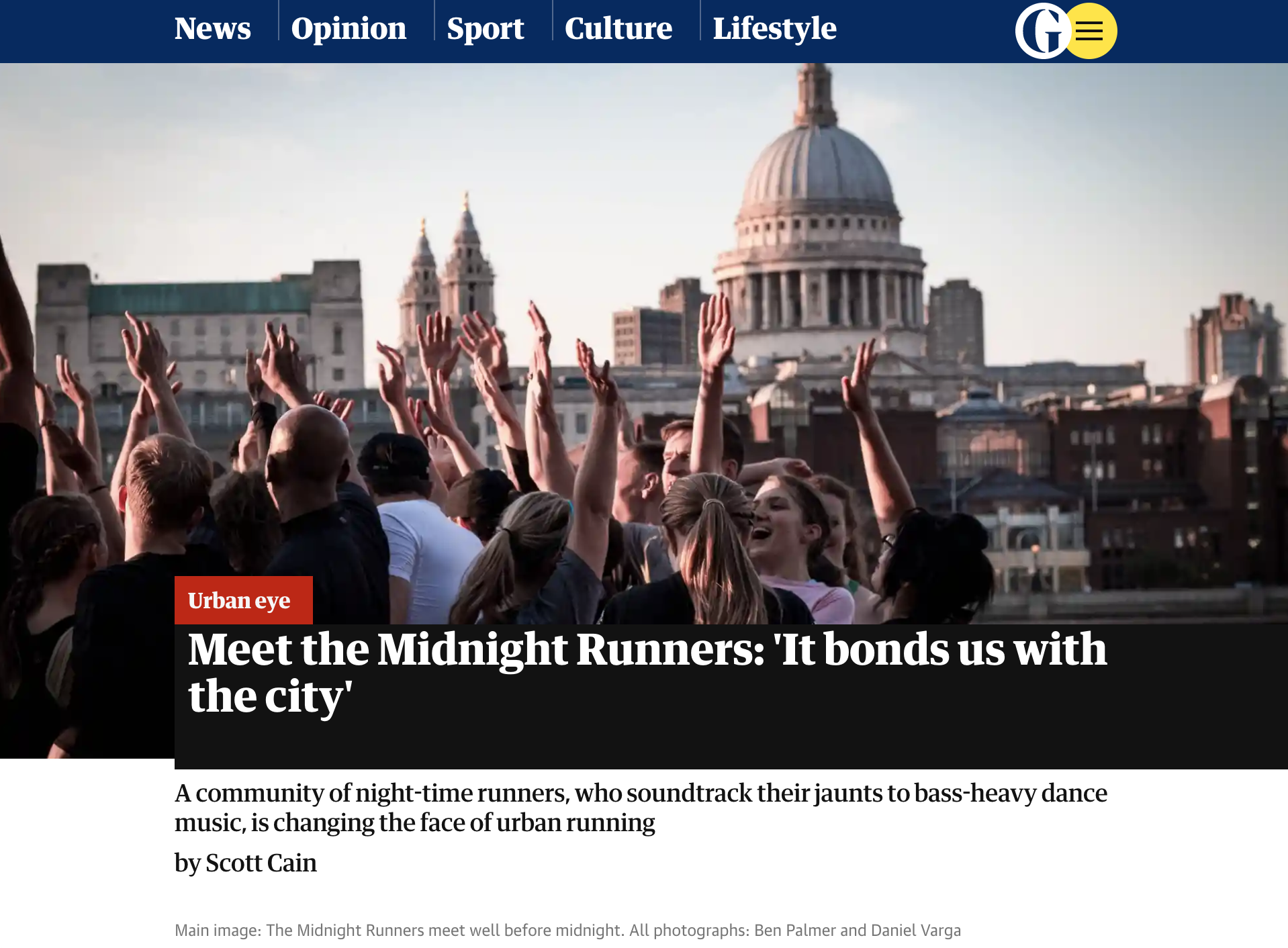 Midnight Running in the City. Every bit as good as it sounds. - Scott Cain, RunFriendly CEO, writes in the Guardian. Scott joins a community of night-time runners, who soundtrack their jaunts to bass-heavy dance music, which is changing the face of urban running.