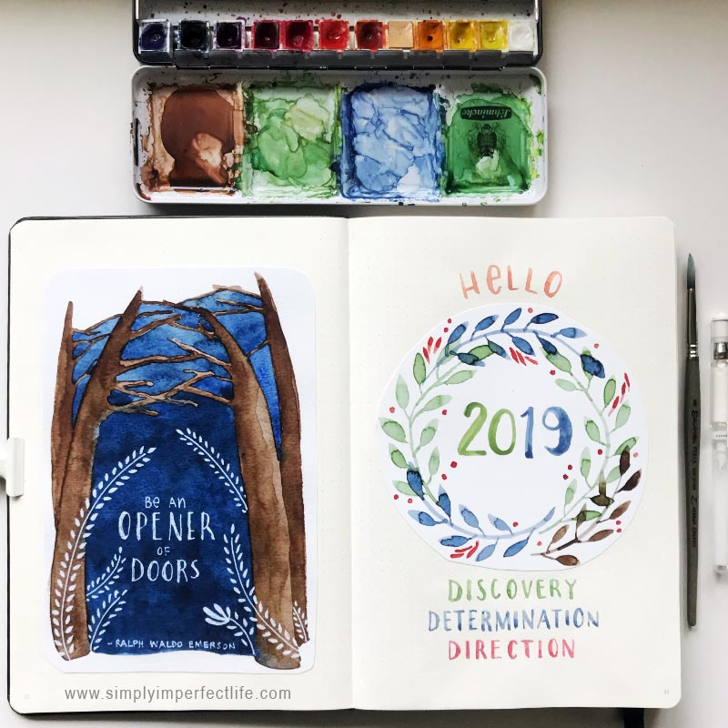 Bullet Journal: 2019 cover by Mariana :  www.simplyimperfectlife.com