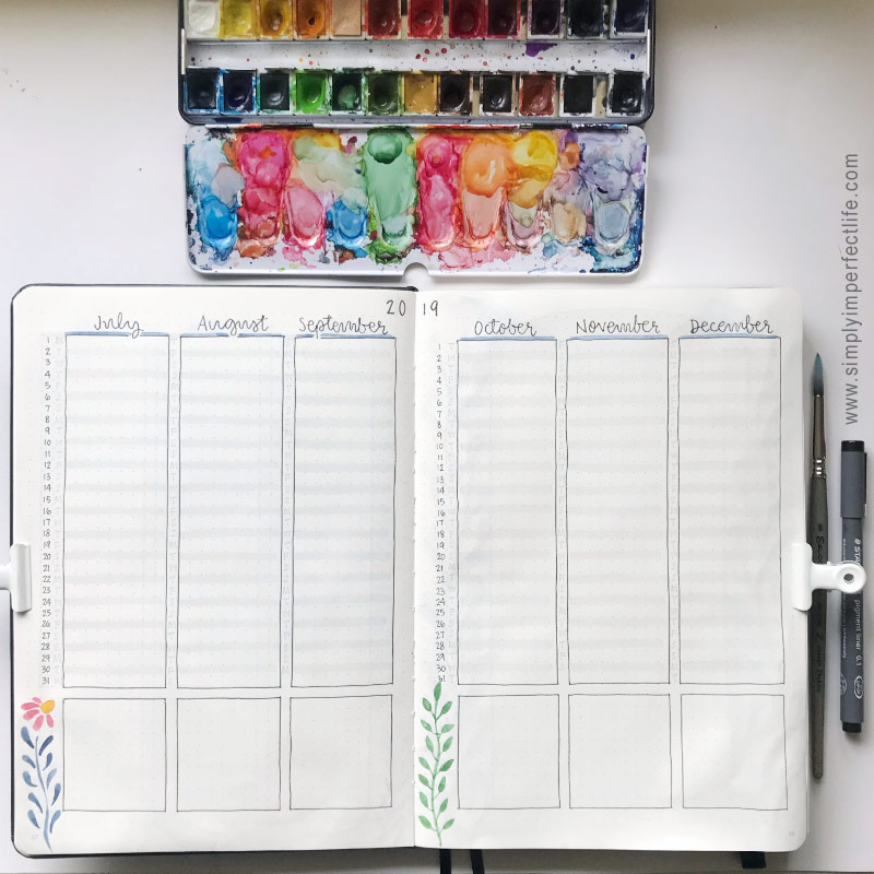 Bullet Journal: 2019 future log 2 by Mariana :  www.simplyimperfectlife.com
