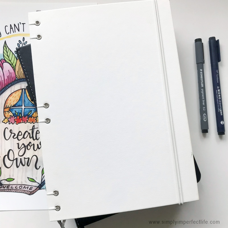 My  Citrus Book Bindery  bullet journal … perfect for 2019 daily spreads!