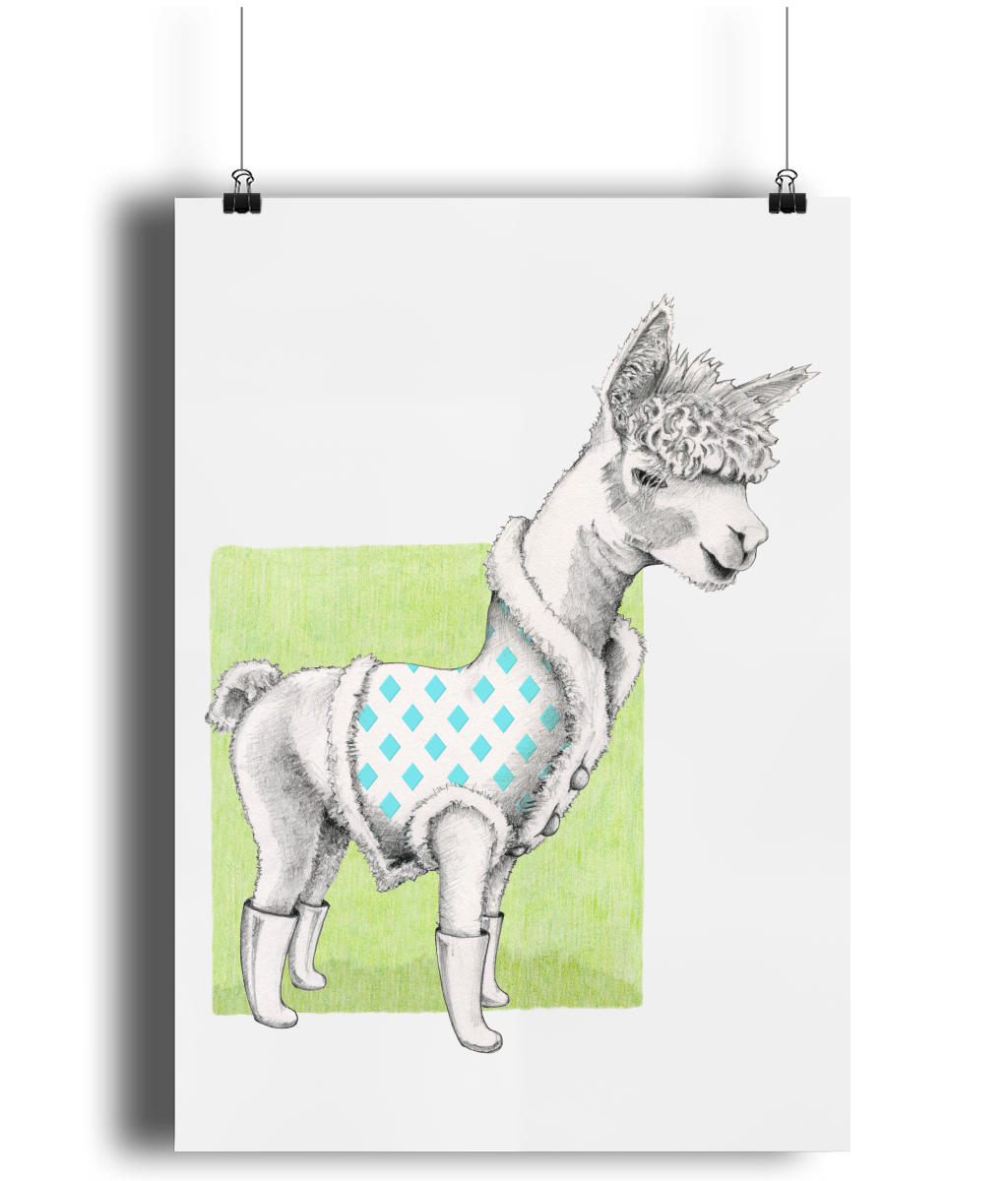 Alpaca art print by MarianaBlackDesigns.png