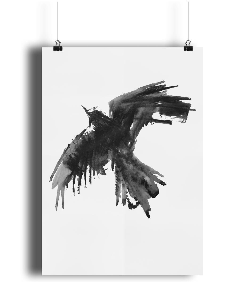 Raven Flight art print by MarianaBlackDesigns.png