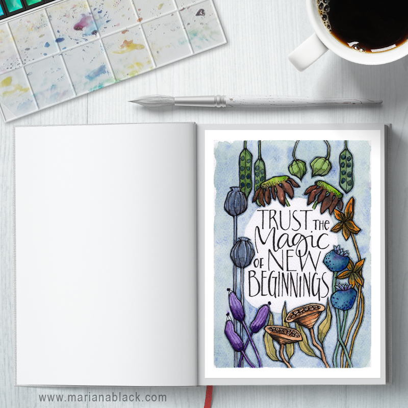 New Beginnings Planner Printables: A4 and A5 sizes