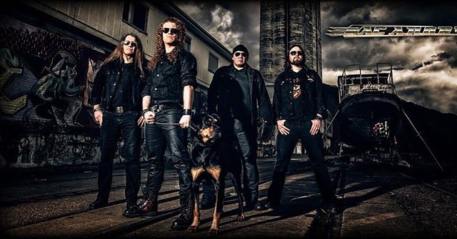 """Today, 6 years ago. Photo shoot for our debut album """"Black Denim"""". 🔥✊🤘🔥 #acangry #rockers #rockerswithdogs #beauceron #blackdenim #blackdog #heavymetal #rocknrollers #hardrockers #blastfromthepast @acangry_official @dennis_ac_angry @steff_ac_angry"""