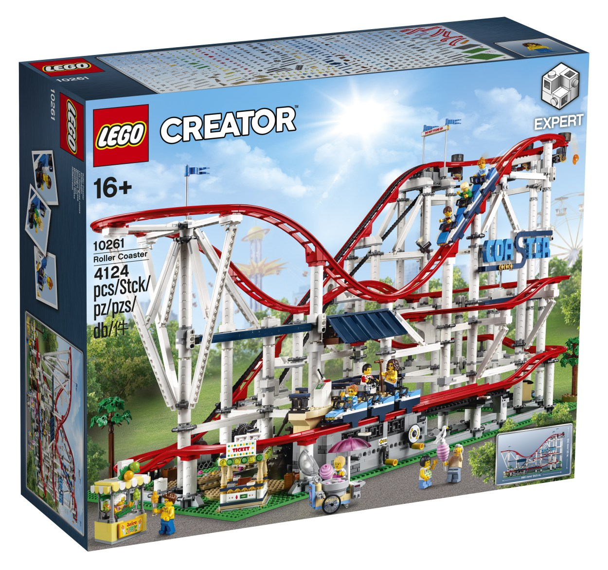 Build a fully functioning Roller Coaster with 2 trains, lots of big dips and upgrade options.